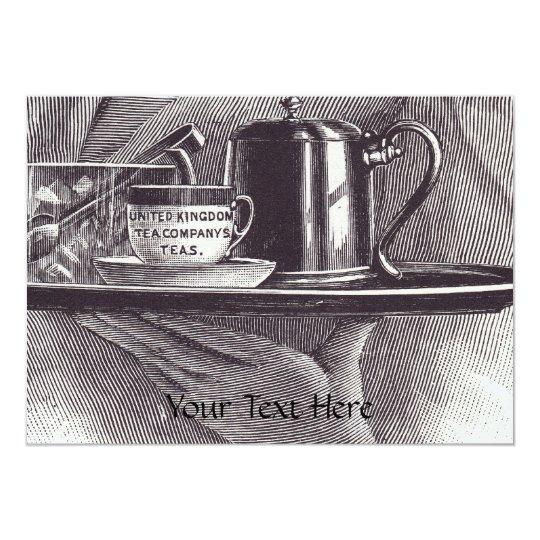 Vintage Tea Tray Card
