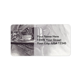 Vintage Tea Tray Address Label