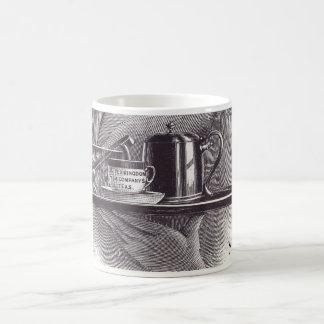 Vintage Tea Tray Classic White Coffee Mug