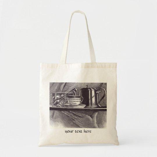 Vintage Tea Tray Tote Bag