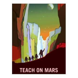 Vintage Teach on Mars Recruitment Postcard