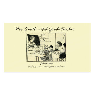 Vintage teacher picture business card customize!