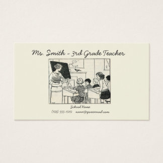 Vintage teacher picture business card customize!