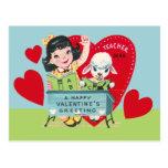 Vintage Teacher Valentine Postcard