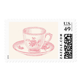 Vintage Teacup Postage