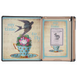 Vintage Teacup, Roses, and Flying Swallow iPad Cases