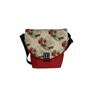 Vintage Teacup & Roses Mini Messenger Bag