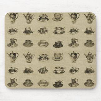 Vintage Teacups Mouse Pad