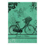 Vintage Teal Bicyce  RSVP Card Personalized Announcement