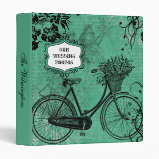 Vintage Teal Bicycle Photo Binder