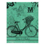 Vintage Teal Bicycle  Wedding RSVP Card Personalized Announcements