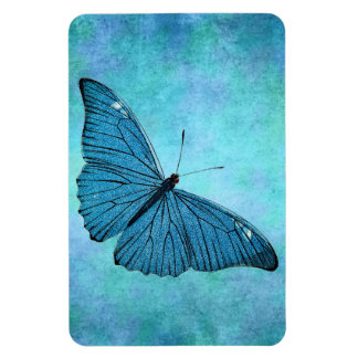 Vintage Teal Blue Butterfly 1800s Illustration Rectangular Photo Magnet