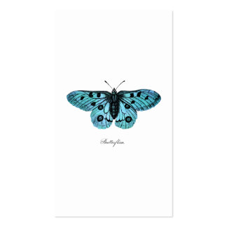 Vintage Teal Blue Butterfly Illustration - 1800's Double-Sided Standard Business Cards (Pack Of 100)