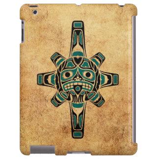 Vintage Teal Blue Haida Sun Mask