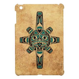 Vintage Teal Blue Haida Sun Mask iPad Mini Case