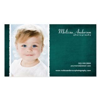 Vintage Teal Blue Studio Portrait Photographer Double-Sided Standard Business Cards (Pack Of 100)