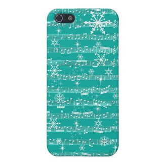Vintage Teal Christmas Musical Sheet Cover For iPhone SE/5/5s