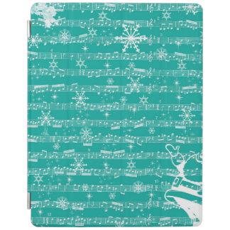 Vintage Teal Christmas Musical Sheet iPad Cover