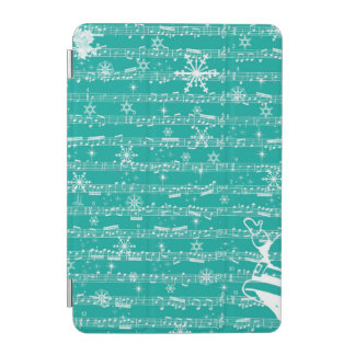 Vintage Teal Christmas Musical Sheet iPad Mini Cover