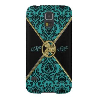 Vintage Teal Damask Celtic Triple Spiral S5 Case Galaxy S5 Case