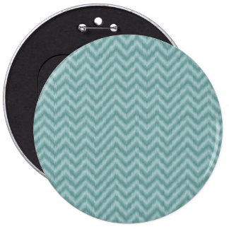 Vintage Teal Green Ikat Chevron Zigzag Pinback Button