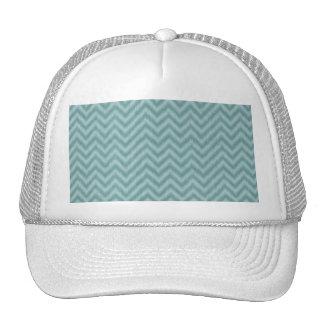 Vintage Teal Green Ikat Chevron Zigzag Trucker Hat