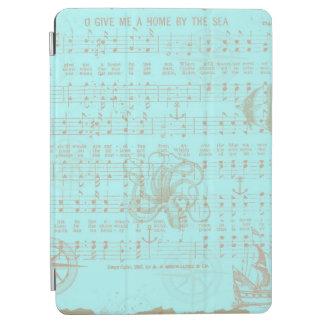 Vintage Teal Nautical Musical Sheet iPad Air Cover