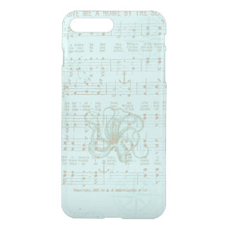 Vintage Teal Nautical Musical Sheet iPhone 7 Plus Case