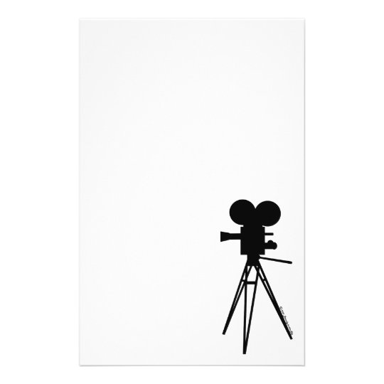 Vintage Technicolor Camera Silhouette Stationery