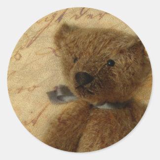Vintage Ted Round Stickers