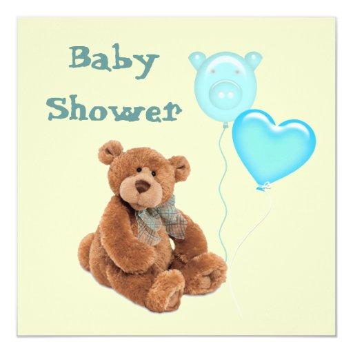 vintage teddy bear baby shower invitation zazzle