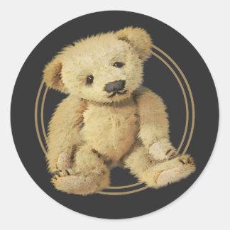 Vintage Teddy Bear Classic Round Sticker