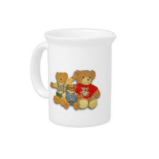 Vintage Teddy Bear Family Pitcher