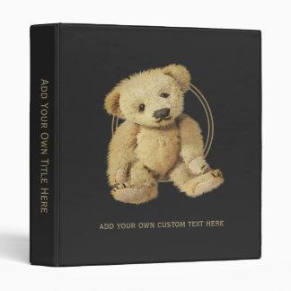 Vintage Teddy Bear Personalized 3 Ring Binder