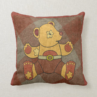 Vintage Teddy Bear Pillow