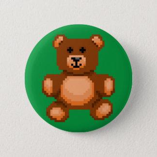 Vintage Teddy Bear - Pixel Art Button