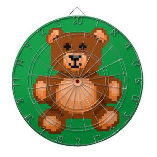 Vintage Teddy Bear - Pixel Art Dartboard