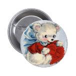 Vintage Teddy Bear Valentine Pins