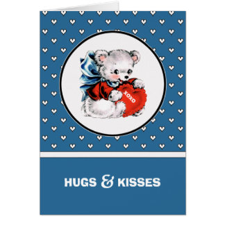 Vintage Teddy Bear Valentine's Day Custom Cards