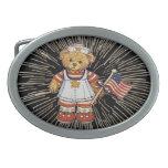 Vintage Teddy Bear with Fireworks Belt Buckle