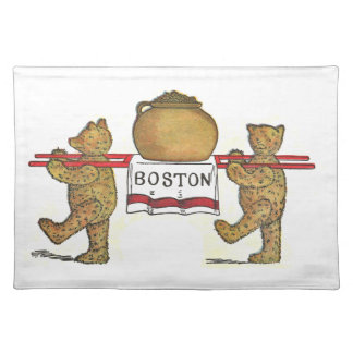 Vintage Teddy Bears and Boston Baked Beans Pot Placemat