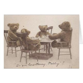 Vintage Teddy Bears, Do you Love Honey? Card