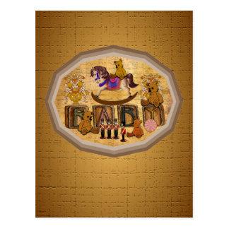 Vintage Teddy Bears Postcard