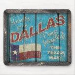 Vintage Tejas - cojín de DallasMouse Tapetes De Ratones