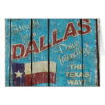Vintage Tejas - tarjeta de felicitación de Dallas