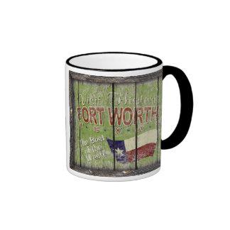 Vintage Tejas - taza de Fort Worth