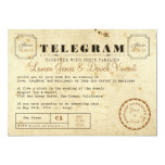 Vintage Telegram Invitation Card