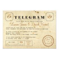 """Vintage Telegram Invitation Card 5"""" X 7"""" Invitation Card"""