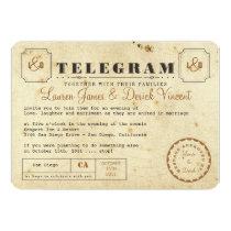 """Vintage Telegram Invitation Postcard 5"""" X 7"""" Invitation Card"""