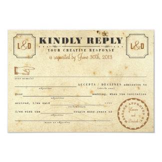 Vintage Telegram Libs Response Card